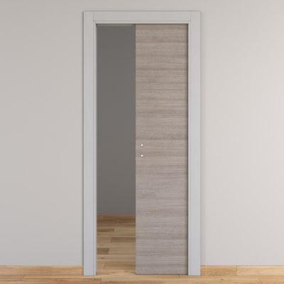 Porta da interno scorrevole One grigio/white 70 x H 210 cm reversibile