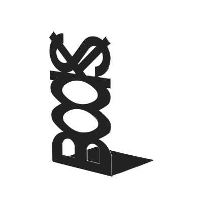 Fermalibri Books nero L 12 x H 21 x P 11 cm