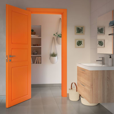 Porta da interno scorrevole New York arancio 90 x H 210 cm reversibile