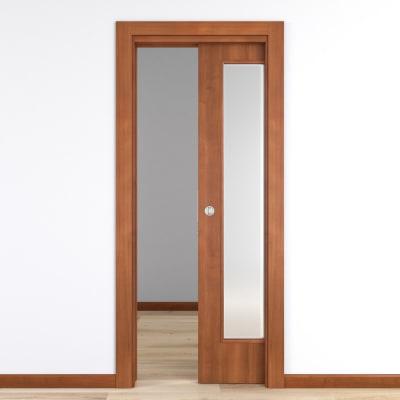 Porta da interno scorrevole Diamond noce biondo 70 x H 210 cm reversibile