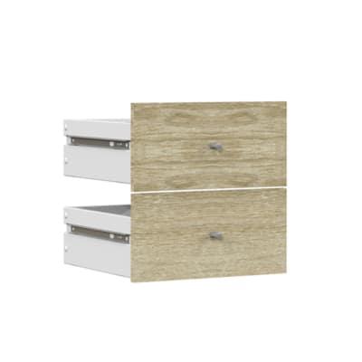 Set 2 cassetti Multikaz rovere naturale L 32,2 x P 32,2 x H 31 cm