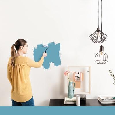 Tester idropittura murale Mano unica Blu Atollo 4 Luxens