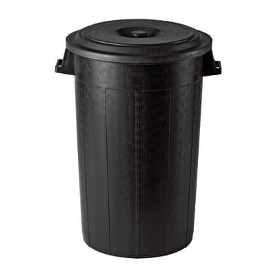Bidone con coperchio nero satinato 70 L