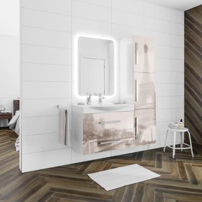 Mobile bagno Virginia bianco L 84 cm