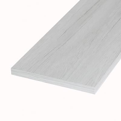 Pannello melaminico rovere bianco 18 x 400 x 1000 mm