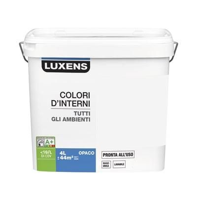 Idropittura lavabile Mano unica Bianco Avorio 5 - 4 L Luxens