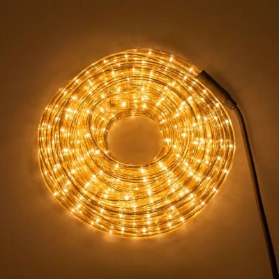 Tubo luminoso 720 minilucciole ad incandescenza trasparente 20 m