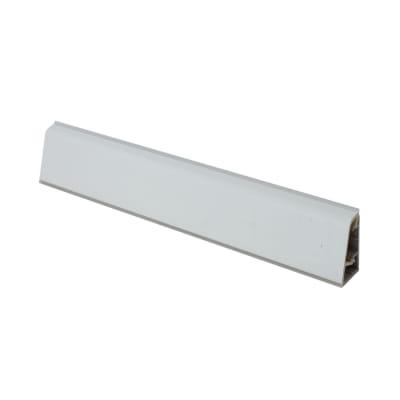 Alzatina su misura Travertino romano alluminio grigio H 3 cm