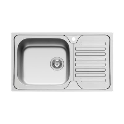 Lavello incasso Dorian L 86 x P  50 cm 1 vasca SX + gocciolatoio