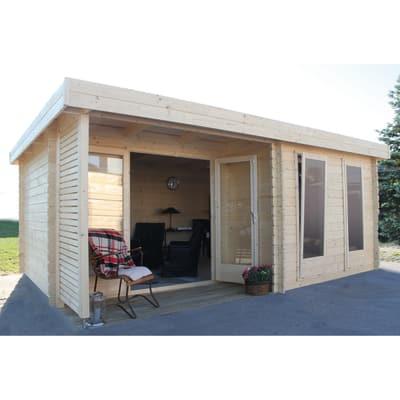 casetta in legno grezzo Hannover 17,66 m², spessore 44 mm