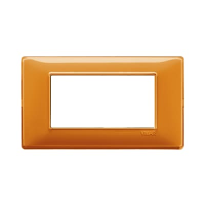 Placca 4 moduli Vimar Plana arancio