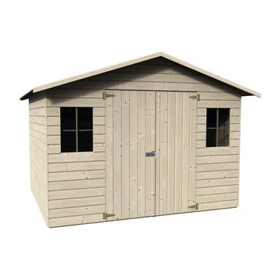 casetta in legno grezzo Magnolia 6,16 m², spessore 19 mm