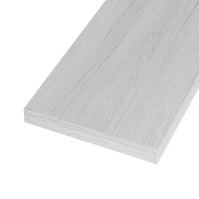 Pannello melaminico rovere bianco 25 x 800 x 1380 mm