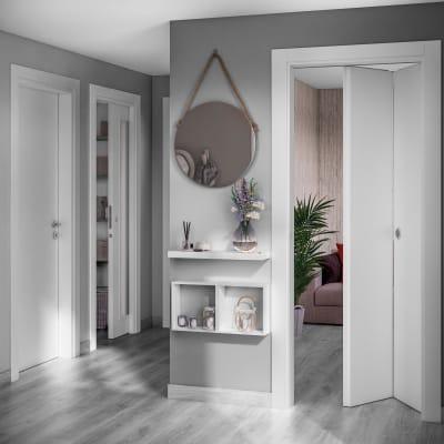 Porta da interno rototraslante Moma bianco 70 x H 210 cm sx