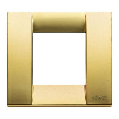 Placca 2 moduli Vimar Idea oro opaco