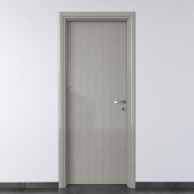Porta da interno battente Pvc grey grigio 90 x H 210 cm sx
