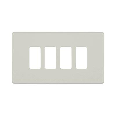 Placca 4 moduli BTicino Magic avorio