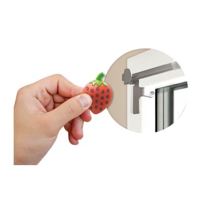 Gommini con calamite decorative per astina Magnetic - Fragola in ABS