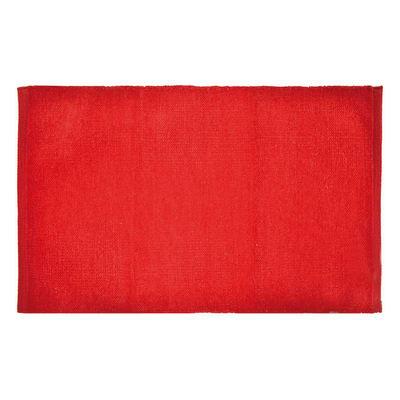 Tappeto bagno Short Chenille rosso