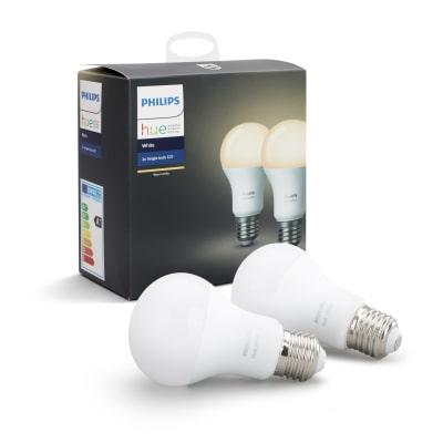 2 lampadine smart LED Philips Hue E27 =95W goccia luce CCT 220°