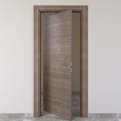 Porta da interno rototraslante Stylish grigio 70 x H 210 cm sx