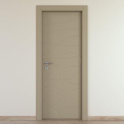 Porta da interno battente Wind taupe tortora 80 x H 210 cm dx