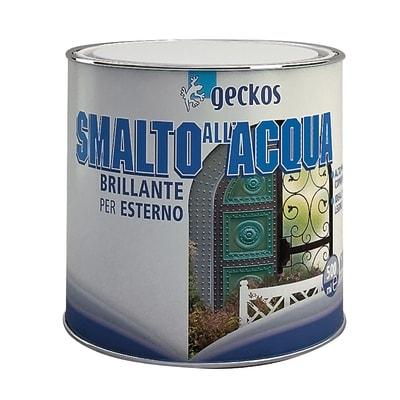 Smalto Geckos all'acqua grigio chiaro brillante 0.5 L