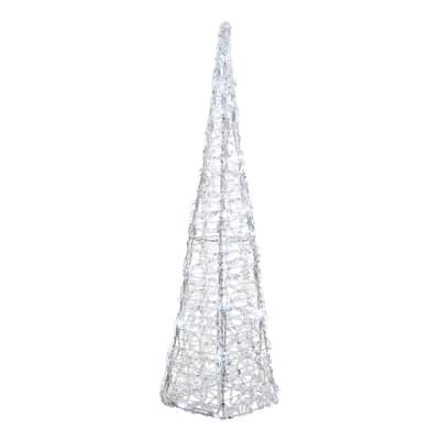 Piramide luminosa 80 Led bianca fredda P 22 x H 118 cm