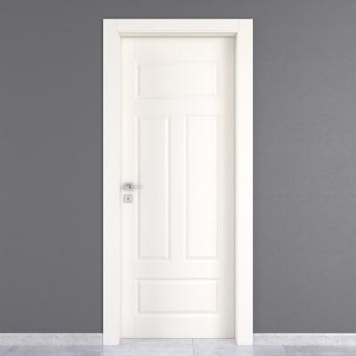 Porta da interno battente Coconut Groove bianco 80 x H 210 cm dx