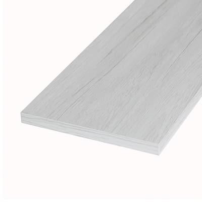 Pannello melaminico rovere bianco 18 x 300 x 1000 mm