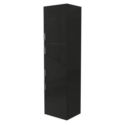 Colonna Sting nero 3 ante L 45 x H 170 x P 38 cm