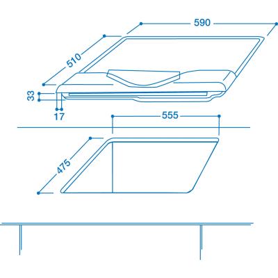 Piano cottura a gas 47,5 cm Indesit IP 640 S AV R