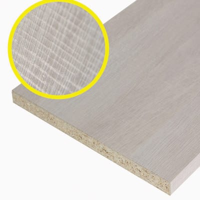 Pannello melaminico rovere chiaro 18 x 400 x 1000 mm