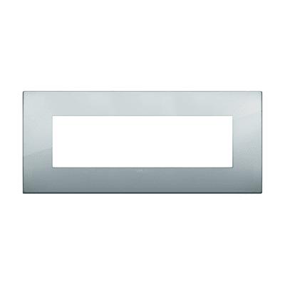 Placca 7 moduli Vimar Arké argento