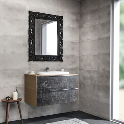 Mobile bagno Base Decor acero L 85 cm