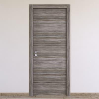 Porta da interno battente Cover palissandro grigio 70 x H 210 cm reversibile