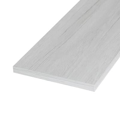 Pannello melaminico rovere bianco 18 x 200 x 600 mm