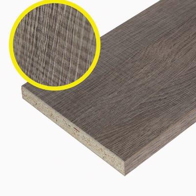 Pannello melaminico rovere medio 18 x 200 x 1000 mm