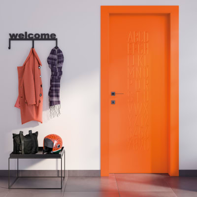 Porta da interno scorrevole Keyboard orange arancio 70 x H 210 cm reversibile