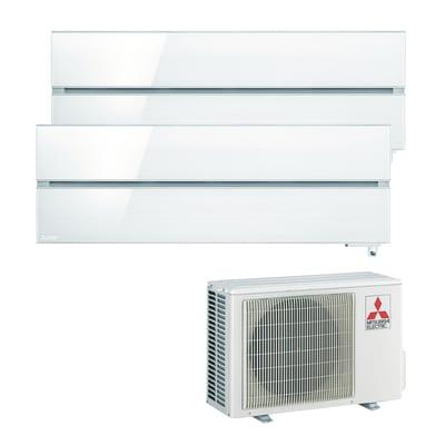 Climatizzatore fisso inverter dualsplit Mitsubishi MXZ-2D53VA + MSZ-LN35VGV + MSZ-LN35VGV Wi-Fi 3.5 + 3.5 kW bianco