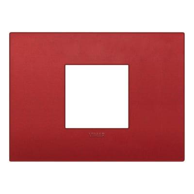 Placca 2 moduli Vimar 19652.75 Arké rosso matt