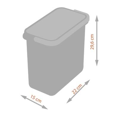 Secchio per pattumiera 7 L grigio