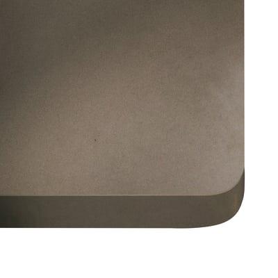 Alzatina su misura Noka quarzo marrone H 6 cm