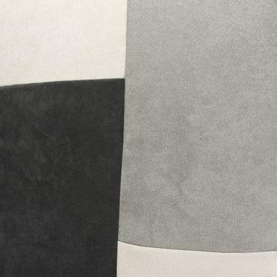 Cuscino Patchwork grigio 60 x 60 cm