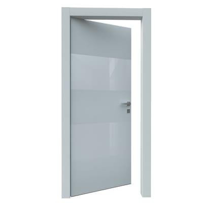 Porta da interno battente Melangè bianco 60 x H 210 cm sx