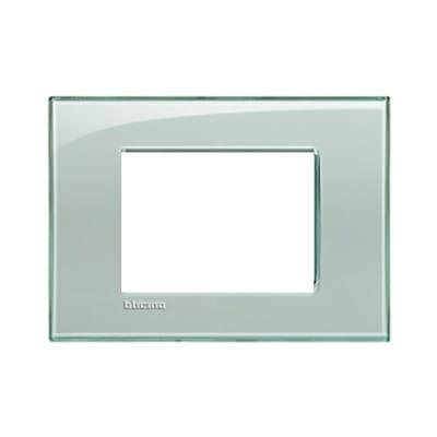 Placca 3 moduli BTicino Livinglight grigio ghiaccio